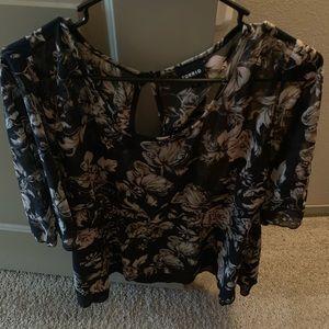 Torrid size 0 sheer blouse